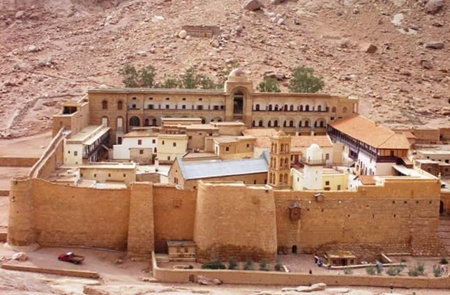 Saint Catherine's Monastery and its surrounding area