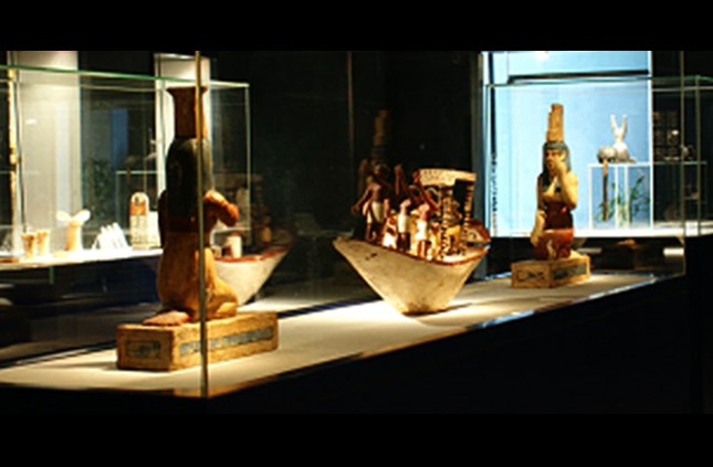 A wooden model of a Funerary boat