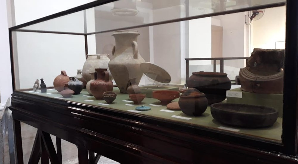 An exhibition about the results of the excavations of the French-Italian mission in  Umbregat in the Egyptian Museum in Tahrir