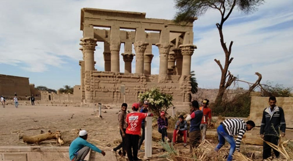Philae temple in Aswan is under development