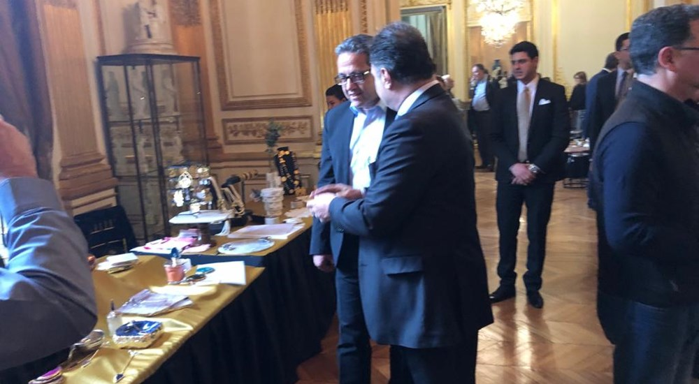 Minister of Antiquities visits Bazaar Al Khair organized by the Egyptian Embassy in Paris