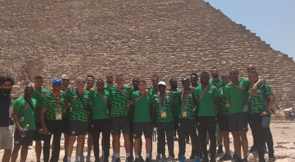 The South African team is visiting the Pyramid area