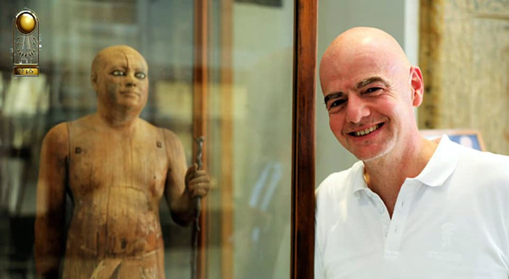 President of FIFA, Gianni Infantino visited the Egyptian Museum