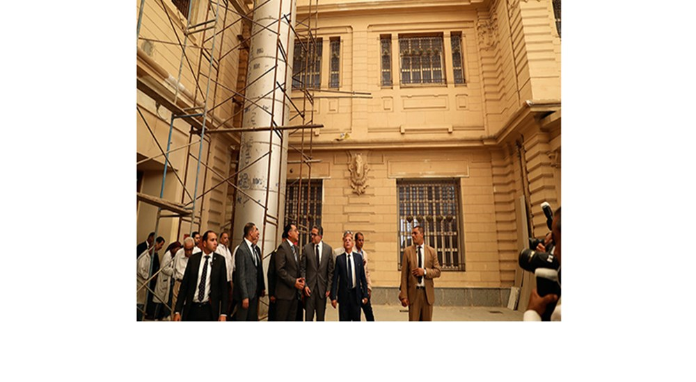 The visit of the Prime Minister and Minister of Antiquities to the Royal Carriages Museum Restoration Project