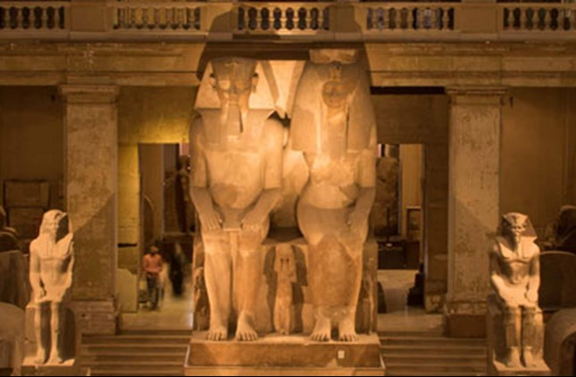 Amenhotep III and Tiye Colossal Statue