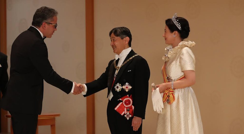 Enthronement ceremony of the new Japanese Emperor
