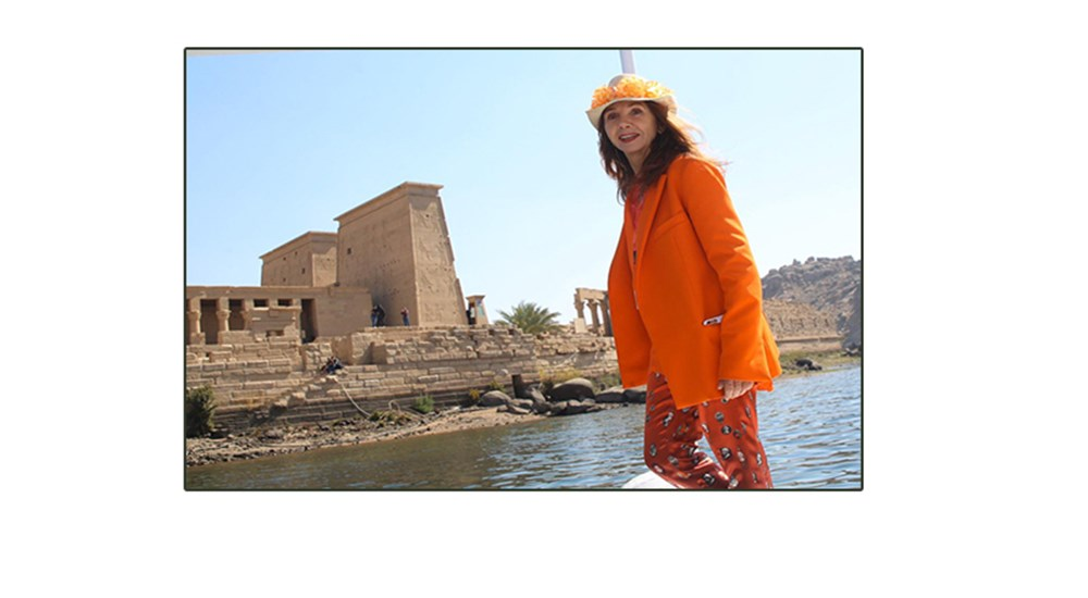 Victoria April visited the Temple of Philae