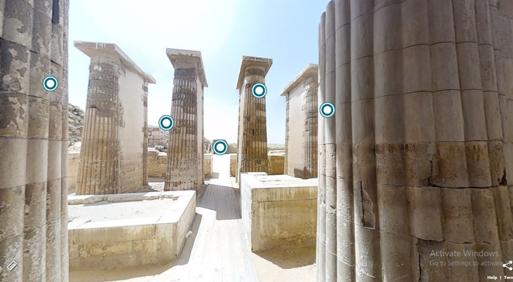 A Virtual Tour through the Step Pyramid Complex of Djoser