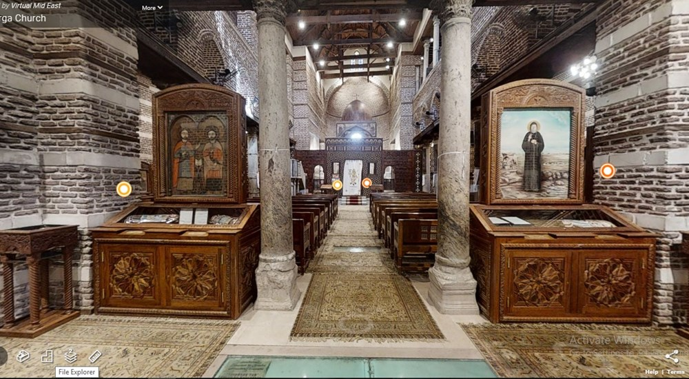 A Virtual Tour through Abu Serga Church