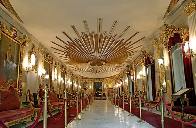 The throne hall ceiling