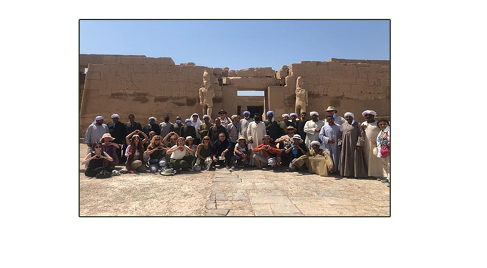 Dr. Khaled al-Anani inspected the temple of Karnak