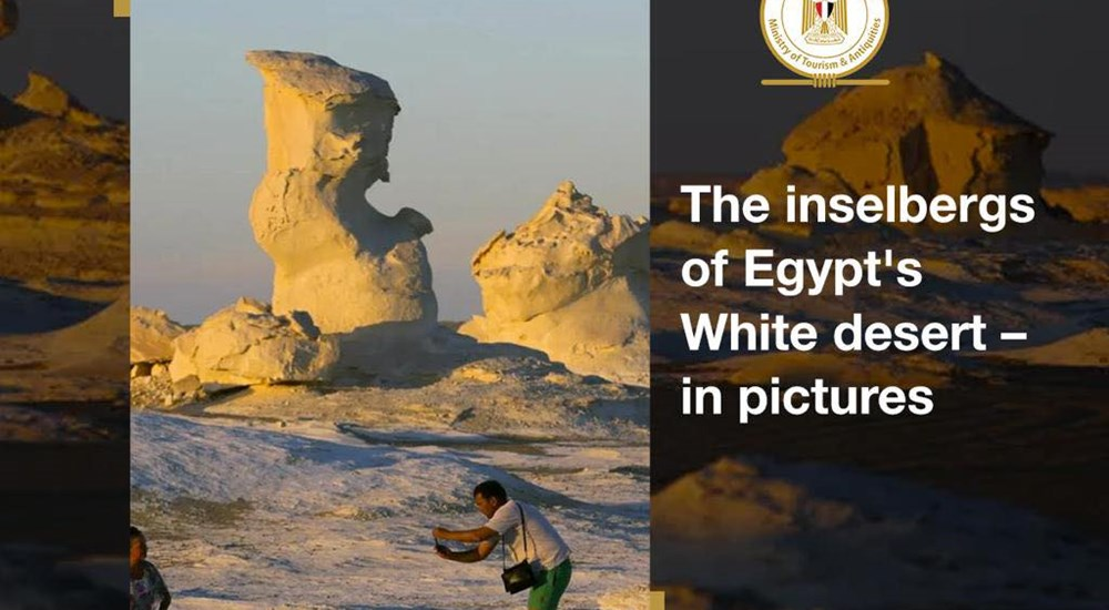 The Guardian published a photo report showcasing the beautiful landscapes of the White Desert