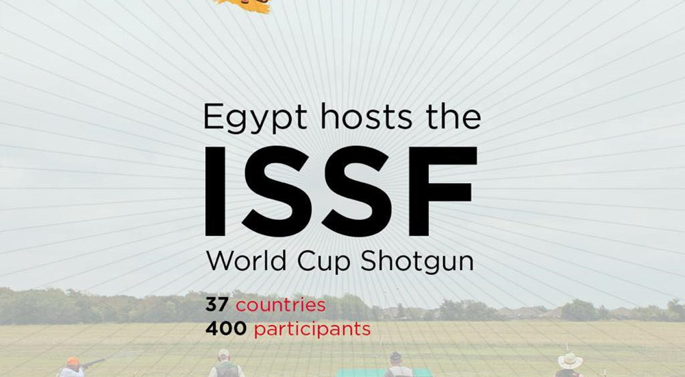 Egypt hosts the tournament of the sport of shooting ISSF