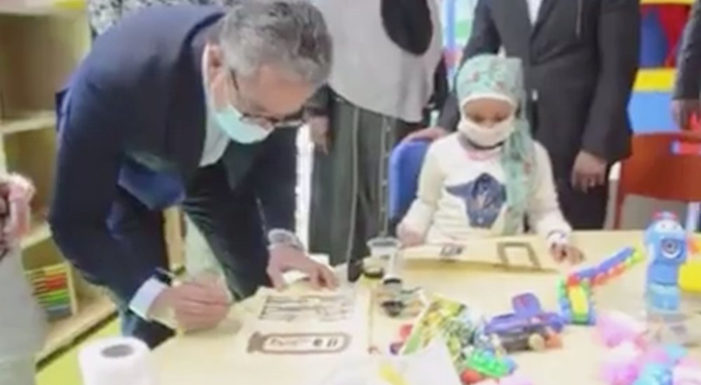 Dr. Khaled El Enany, Minister of Tourism and Antiquities, met Children at Shifa El Orman Children's Hospital for Cancer in Luxor after its opening.